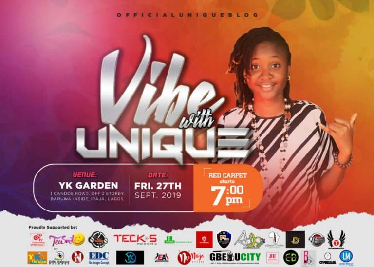 MUSIC ARTISTE UNIQUE SET TO HEADLINE VIBE WITH UNIQUE IN SEPTEMBER