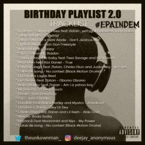 [MIXTAPE]: DJ ANONYMOUS – BIRTHDAY PLAYLIST 2.0