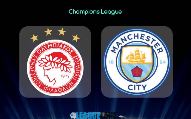 STREAM LIVE: Olympiakos vs Man City Watch Now Champions ...