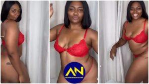 UCC 'Bad Girl' Abena Korkor Causes Stir As She Flaunting Her Raw Goodies Online [Watch]