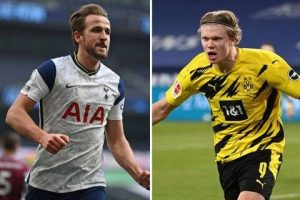 Harry Kane and Erling Haaland