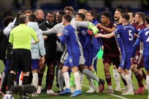 Chelsea facing possible points deduction after 20-man brawl with Leicester