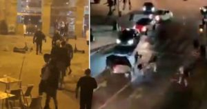 Man City and Chelsea fans fight on streets ahead of Champions League final