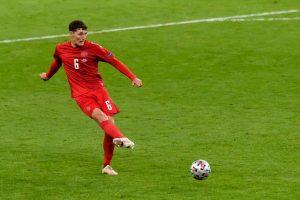 What happened to Chelsea defender Andreas Christensen in England's win against Denmark